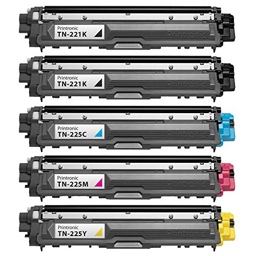 INKTONER 5 パック (2BK/C/M/Y) TN-221 TN-225 Compatible Toner For Brother MFC-9130CW MFC-9330CDW MFC-9340CD (海外取寄せ品)