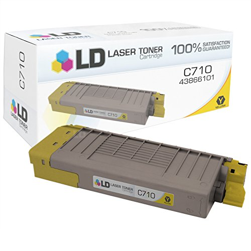LD c Compatible Okidata 43866101 イエロー Laser Toner Cartridge for OKI C710dn, C710dtn, & C710n Printers (海外取寄せ品)
