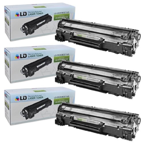 LD c Remanufactured Canon 3500B001AA (128) セット of 3 ブラック Laser Toner Cartridges (海外取寄せ品)