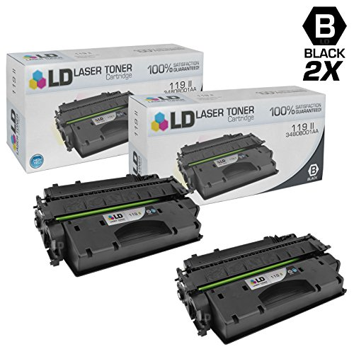 LD c Compatible Canon 119 II / 3480B001AA セット of 2 ハイ Yield ブラック Toner Cartridges for Canon ImageClass Printer Series (海外取寄せ品)