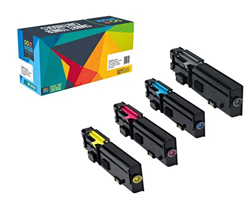 Do it Wiser Compatible ハイ Yield Toner Cartridges リプレイスメント for デル C2660 C2660dn C2665dnf 4-パック (海外取寄せ品)