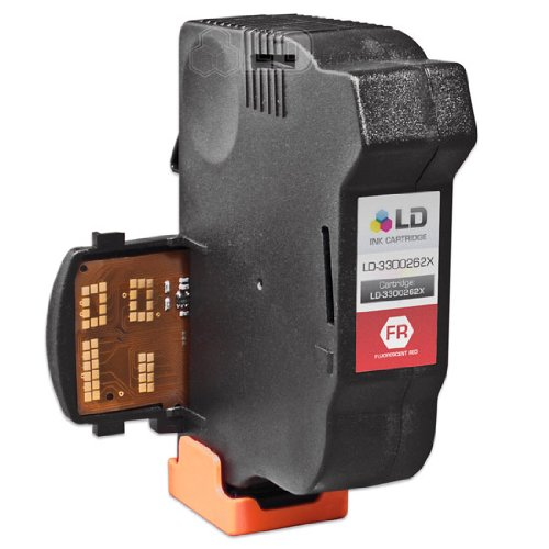 LD c Remanufactured リプレイスメント for Hasler Fluorescent レッド 3300262X inkjet cartridge for the WJ20 (海外取寄せ品)