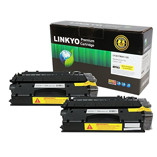 LINKYO Compatible ハイ Yield Toner Cartridges リプレイスメント for Canon 120 (Black, 2-Pack) (海外取寄せ品)