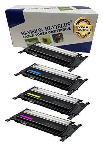 HI-ビジョン Compatible Toner Cartridge リプレイスメント for サムスン CLT-K406S CLT-C406S CLT-Y406S CLT-M406S (1 ブラック, 1 シアン, 1 イエロー, 1 Magenta, 4-Pack) works with CLP-365W, CLX-3305FW, CLX-3305W (海外取寄せ品)