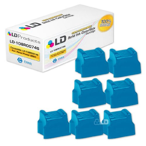 LD c Xerox Phaser 8860 / 8860MFP Compatible シアン (7 pack) 108R00746 / 108R746 ソリッド Ink Cartridge (海外取寄せ品)