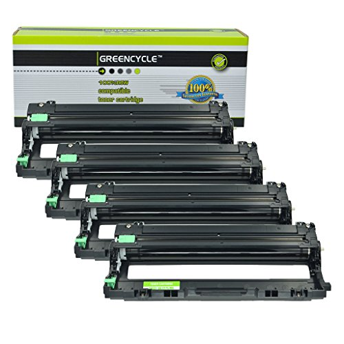 GREENCYCLE 4 パック DR221 DR221CL ハイ Yield Drum Unit Compatible For Brother DR-221 MFC-9130CW 9330CDW 9340CDW HL-3140CW 3150CDN 3170CDW, 15,000 ページ (海外取寄せ品)