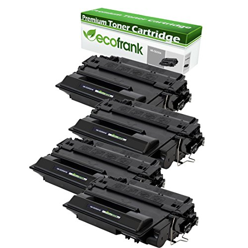 EcoFrank Compatible Toner Cartridge リプレイスメント for HP 55A CE255A (Black, 4-Pack) (海外取寄せ品)