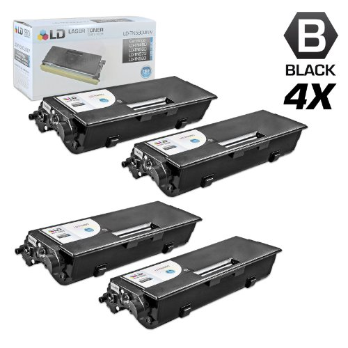 LD c Compatible Compatible With Brother TN460 セット of 4 ブラック Laser Toner Cartridges (海外取寄せ品)