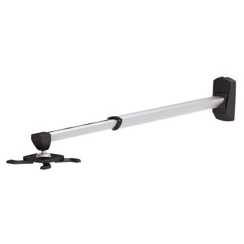 Cmple - ショート スルー Projector Mount with アーム Length Up to 24.4'' and マックス weight 22 LB ブラック/シルバー (海外取寄せ品)