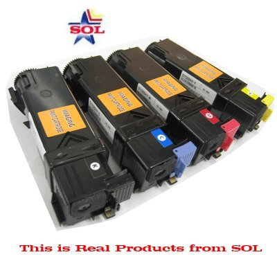 B, C, M, Y (2,000 pages) ハイ Yield Compatible デル 1320c カラー Laser Toner Cartridges Comb (New チップ installed) (海外取寄せ品)
