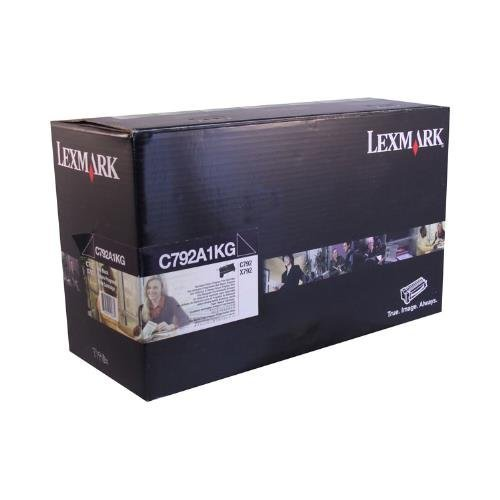 Lexmark C792A1KG ブラック Return Program Toner Cartridge for Lexmark C792de 792dhe 792dte 792e; X792de 792dte 792dtfe 792dtme 792dtpe 792dtse (海外取寄せ品)