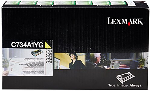 Lexmark C734A1YG イエロー Return Program Toner Cartridge (海外取寄せ品)