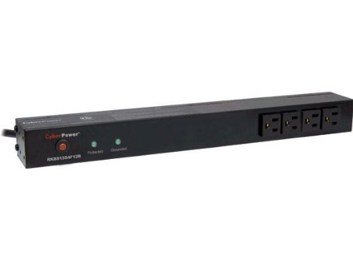 CyberPower RKBS15S4F12R 15A 16-Outlet 1U RM Rackbar Surge Suppressor (海外取寄せ品)