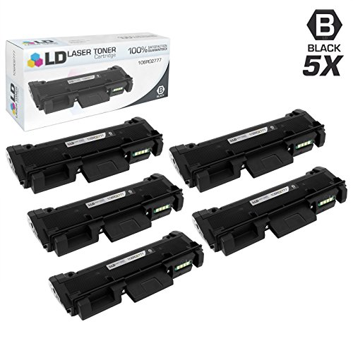 LD c Compatible Xerox 106R02777 セット of 5 HY ブラック Toner Cartridges for Phaser 3260/DNI, 3260/DI, WorkCentre 3215/NI, & 3225/DNI (海外取寄せ品)