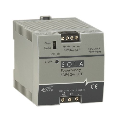 Sola/Hevi-Duty SDP06-24-100T DC Power サプライ, 24-28 VDC, 0.6 Amp, 47-63 Hz (海外取寄せ品)