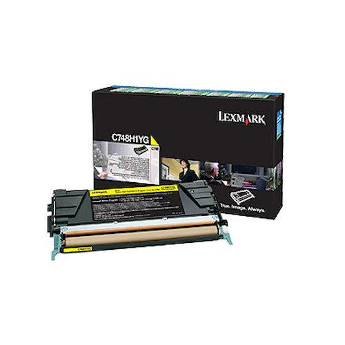 Lexmark C748H1YG イエロー ハイ Yield Return Program Cartridge Toner (海外取寄せ品)