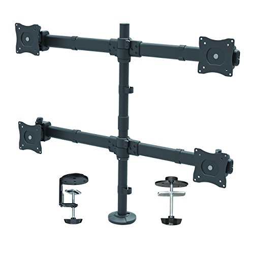 "StarTech.com クワッド モニター Mount ? Articulating ? Clamp or Grommet Mount ? モニター up to 24"" ? VESA Mount ? 4 モニター Setup 「汎用品」(海外取寄せ品)"