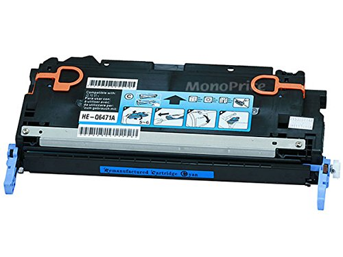 Monoprice 109107 MPI Remanufactured HP Q6471A Laser/Toner - シアン (海外取寄せ品)