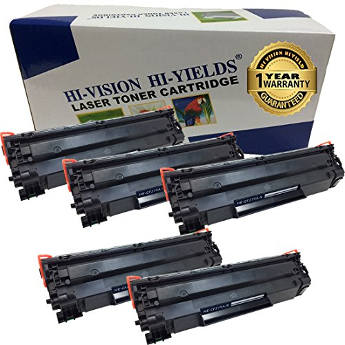 HI-ビジョン Compatible Toner Cartridge リプレイスメント for HP 79A [CF279A, 1k ページ Yield] ブラック Laserjet プロ M12w, M12a, MFP M26nw, M26a (5-Pack) (海外取寄せ品)