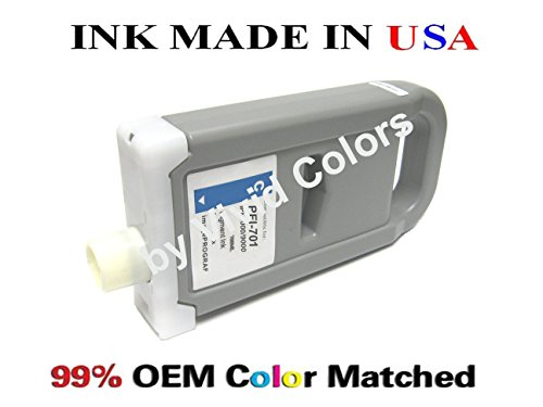 PFI-701 New compatible cartridge for Canon ipf8000 9000- Pigment シアン (海外取寄せ品)