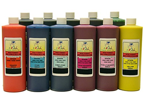 InkOwl - 11x500ml バルク Pigment Ink for EPSON Stylus プロ 4900 - メイド in the USA (海外取寄せ品)