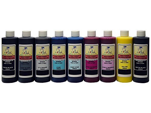 InkOwl - 9x250ml バルク Pigment Ink for EPSON SureColor P600 - メイド in the USA (海外取寄せ品)