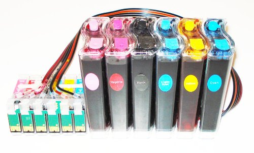 Ciss Cis Ink System for エプソン Epson Artisan 730 or Artisan 837 with Individual チップ Without ボタン (海外取寄せ品)