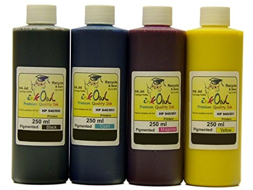 4x250ml Pigmented InkOwl ink for HP 940 - メイド in the USA (海外取寄せ品)
