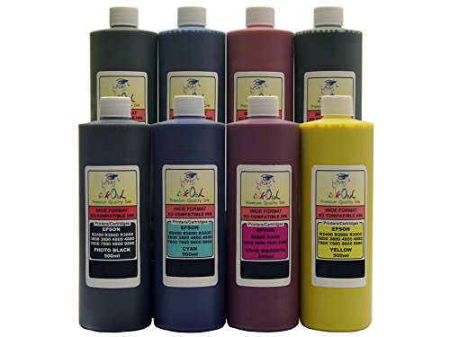 InkOwl - 8x500ml バルク Pigment Ink for use in EPSON Stylus プロ 4880, 7880, 9880 - メイド in the USA (海外取寄せ品)