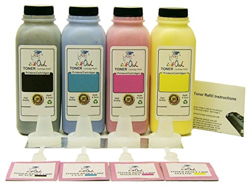 InkOwl - 4-カラー Laser Toner Refill キット for HP CE250A/51A/52A/53A (504A) with reset チップ (海外取寄せ品)
