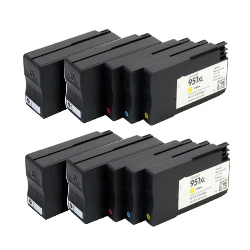 ink4work セット of 10 Remanufactured/Compatible HP 950XL 951XL Ink Cartridge コンボ For Officejet 8100, 8600, 8600 Plus, 8600 プレミアム (海外取寄せ品)
