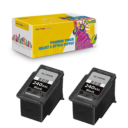 New ヨーク TonerTM New Compatible 2 パック PG-240XXL BK ハイ Yield Inkget for キャノン Canon - PIXMA MG2120 | MG2220 | MG3120 | MG3122 | MG3220 | MG3222 | MG3520 | MG4120 | MG4220 . -- ブラック (海外取寄せ品)