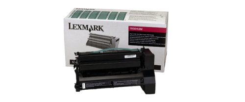 Lexmark ハイ Yield Magenta Return Program Toner Cartridge for US Government, 15000 Yield (15G642M) (海外取寄せ品)