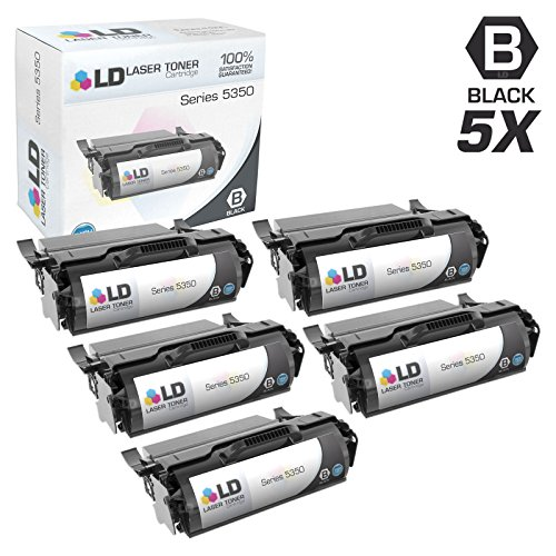 LD c Remanufactured デル 330-9619 / 330-9511 セット of 5 ハイ Yield ブラック Laser Toner Cartridges for Laser 5350dn Printer (海外取寄せ品)