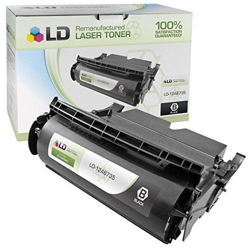 LD c Remanufactured ブラック Laser Toner Cartridge for Lexmark 12A6735 (Optra T520, T522) (海外取寄せ品)