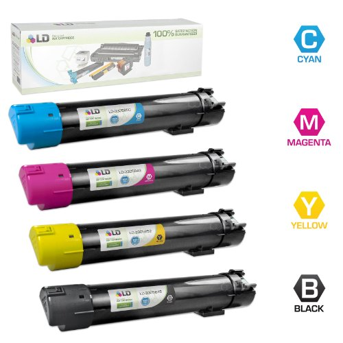 LD Remanufactured リプレイスメント for デル 5130 セット of 4 HY Toner Cartridges インクルーズ:1 330-5846 BLK, 1 330-5850 C, 1 330-5843 M, & 1 330-5852 Y for use in デル カラー Laser 5120cdn, 5130cdn, & 5140cdn (海外取寄せ品)