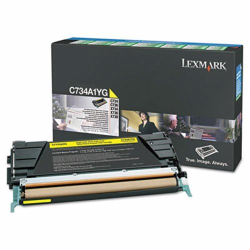 LEXC748H1YG - Lexmark C748 イエロー ハイ Yield Return Program Toner Cartridge (海外取寄せ品)