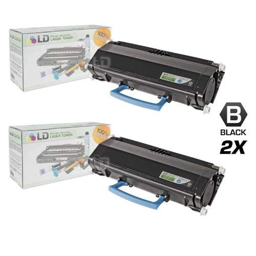 LD c Remanufactured IBM 39V3715 セット of 2 ハイ Yield ブラック Laser Toner Cartridges (海外取寄せ品)