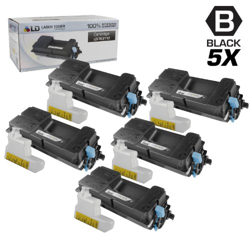 LD c セット of 5 Compatible Kyocera-Mita ブラック TK-3112 / 1T02MT0US0 Laser Toner Cartridges for use in FS-4100DN Printers (海外取寄せ品)