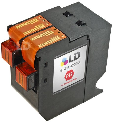 LD c Remanufactured リプレイスメント for Hasler WJINK1 / 4124703Q Fluorescent レッド Inkjet Cartridge for use in Hasler WJ135, WJ150, WJ180, WJ185, and WJ215 マシーン (海外取寄せ品)