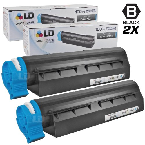 LD c セット of 2 Okidata Compatible 44574901 HY ブラック Laser Toner Cartridge for the MB461 MFP, MB471, MB471W, B431d and B431dn Printers (海外取寄せ品)