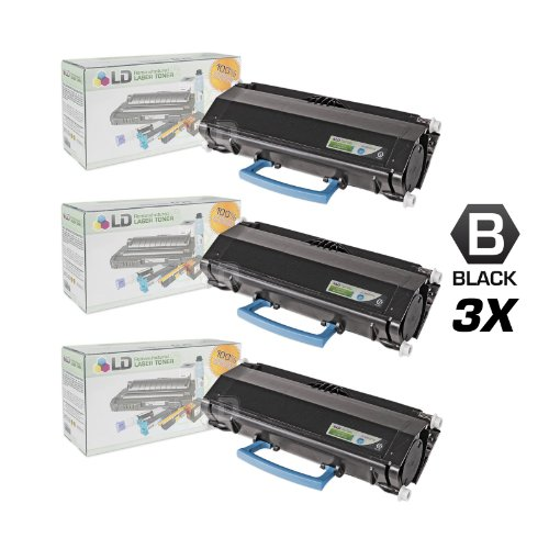 LD c Remanufactured IBM 39V3715 セット of 3 ハイ Yield ブラック Laser Toner Cartridges (海外取寄せ品)