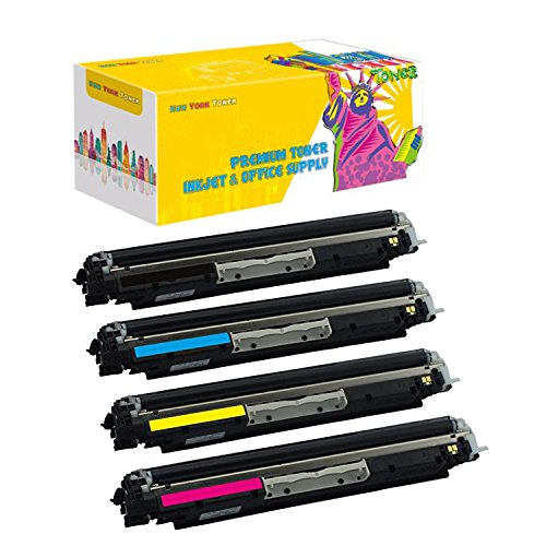 New ヨーク TonerTM New Compatible 4 パック CF350A CF351A CF352A CF353A ハイ Yield Toner for HP - M177fw . -- ブラック Magenta イエロー シアン (海外取寄せ品)