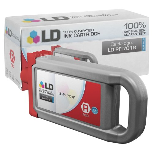 LD c Compatible リプレイスメント for Canon PFI-701R ハイ Yield レッド Pigment Inkjet Cartridge for use in Canon imagePROGRAF iPF8000, iPF8100, iPF9000, and iPF9100 Printers (海外取寄せ品)