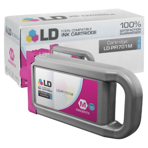 LD c Compatible リプレイスメント for Canon PFI-701M ハイ Yield Magenta Pigment Inkjet Cartridge for use in Canon imagePROGRAF iPF8000, iPF8000s, iPF8100, iPF9000, iPF9000s and iPF9100 Printers (海外取寄せ品)