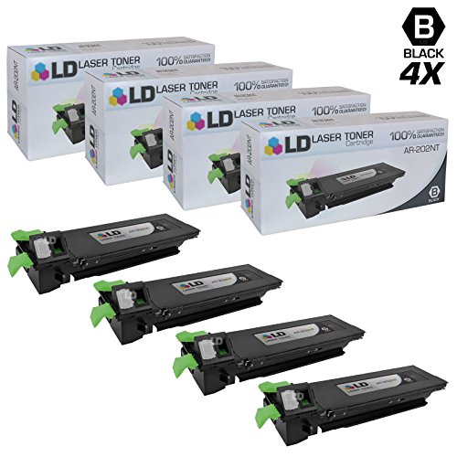 LD c Compatible リプレイスメント for Sharp AR-202NT セット of 4 ブラック Laser Toner Cartridges for use in Sharp AR 162, 163, 164, 201, 207, M160, M162, and M205 Printers (海外取寄せ品)