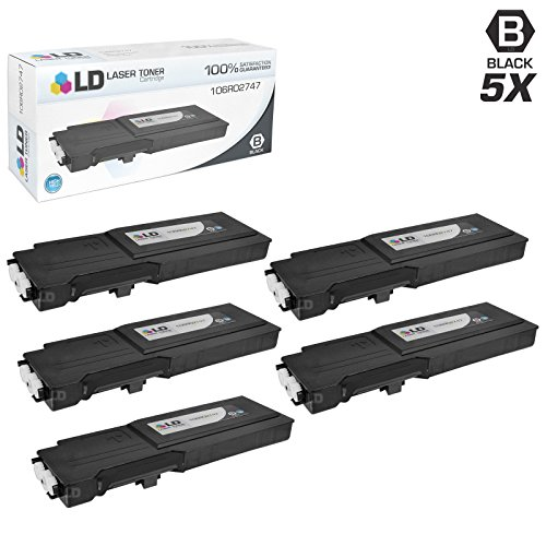LD c Compatible Xerox 106R02747 セット of 5 ハイ Yield ブラック Laser Toner Cartridges for use in Xerox WorkCentre 6655 Printer (海外取寄せ品)