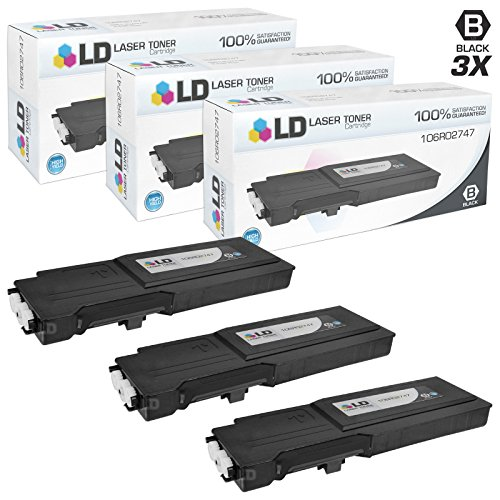 LD c Compatible Xerox 106R02747 セット of 3 ハイ Yield ブラック Laser Toner Cartridges for use in Xerox WorkCentre 6655 Printer (海外取寄せ品)