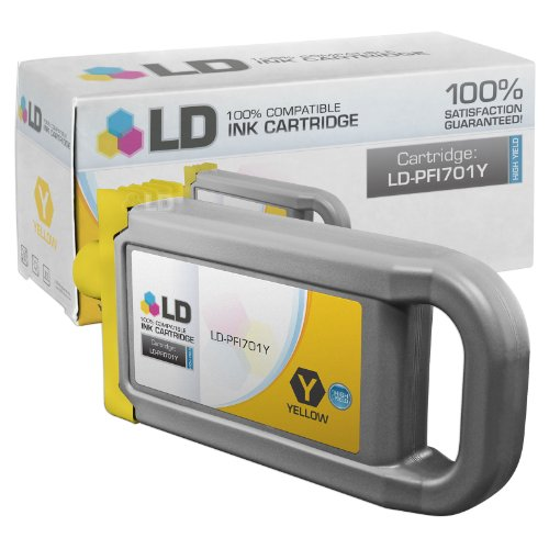 LD c Compatible リプレイスメント for Canon PFI-701Y ハイ Yield イエロー Pigment Inkjet Cartridge for use in Canon imagePROGRAF iPF8000, iPF8000s, iPF8100, iPF9000, iPF9000s and iPF9100 Printers (海外取寄せ品)