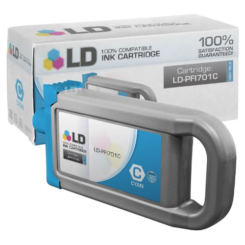 LD c Compatible リプレイスメント for Canon PFI-701C ハイ Yield シアン Pigment Inkjet Cartridge for use in Canon imagePROGRAF iPF8000, iPF8000s, iPF8100, iPF9000, iPF9000s and iPF9100 Printers (海外取寄せ品)
